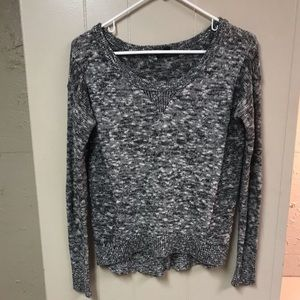 American Eagle glittery high low sweater.